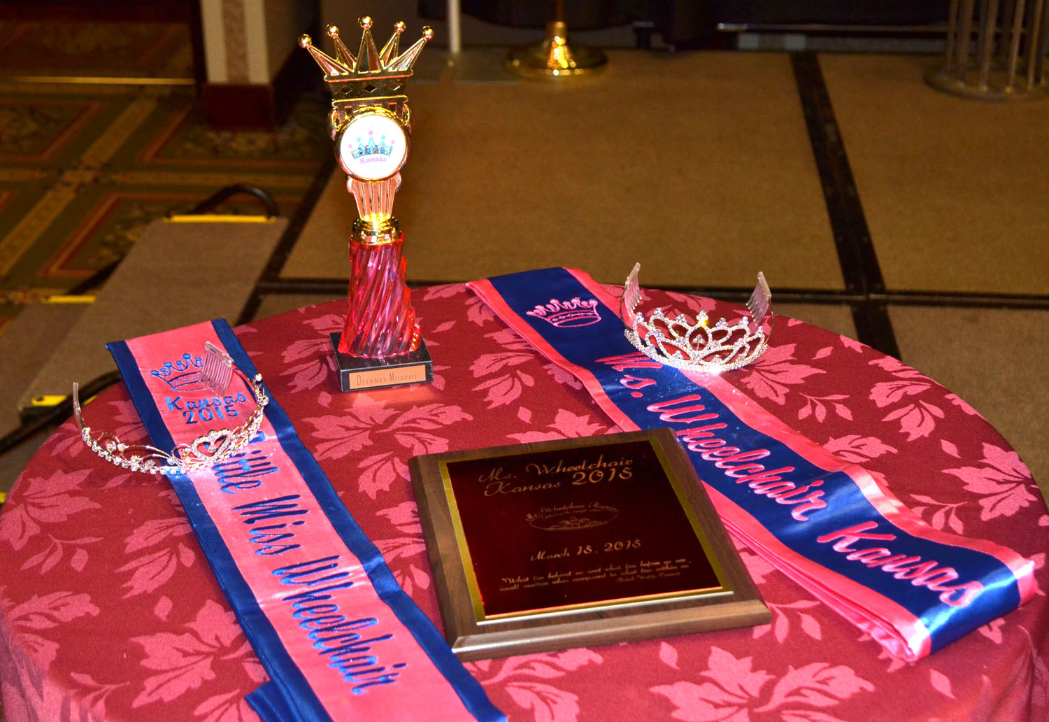 Crowns, sashes, and awards