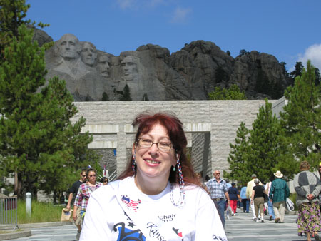 Marie in front of Mt. Rushmore
