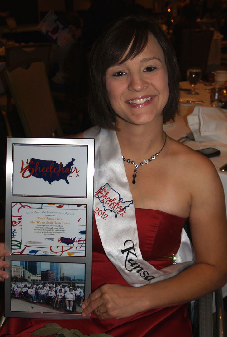 Jenny with her Nicki Ard Award certificate