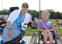 MWKS titleholder poses with Little Miss at Challenge Games